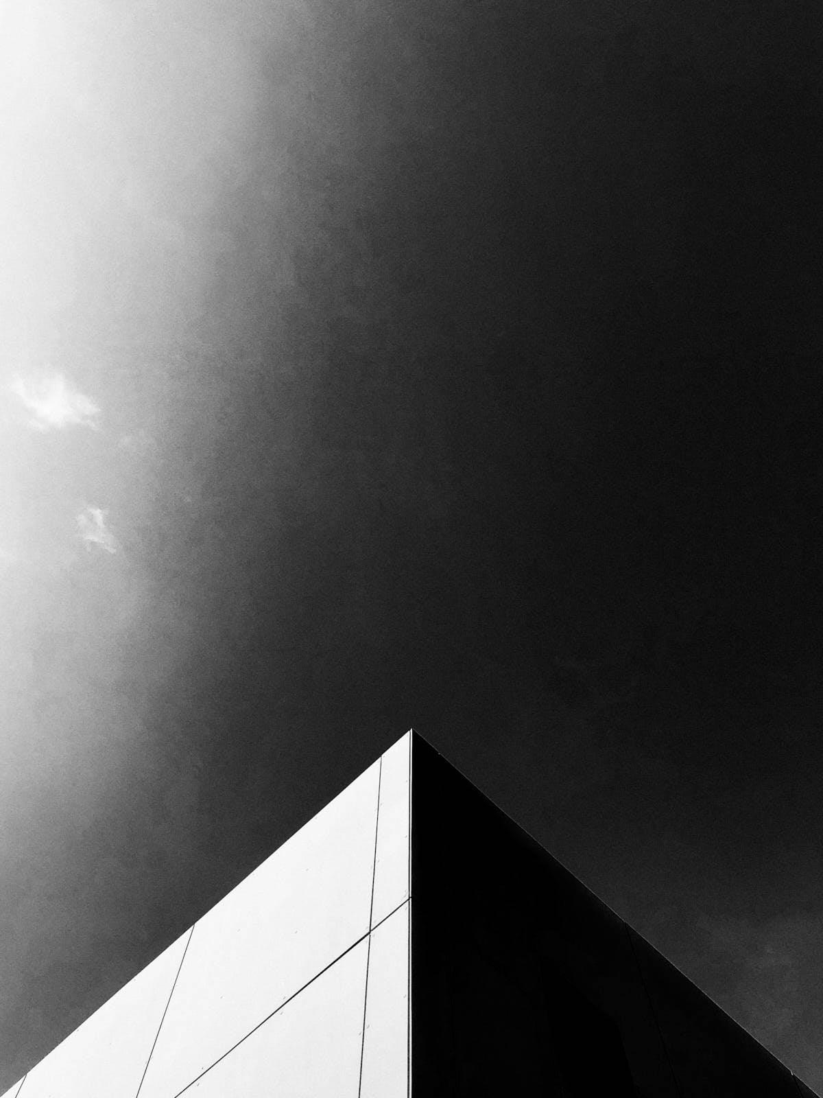 minimalist photography of a pyramidal shape