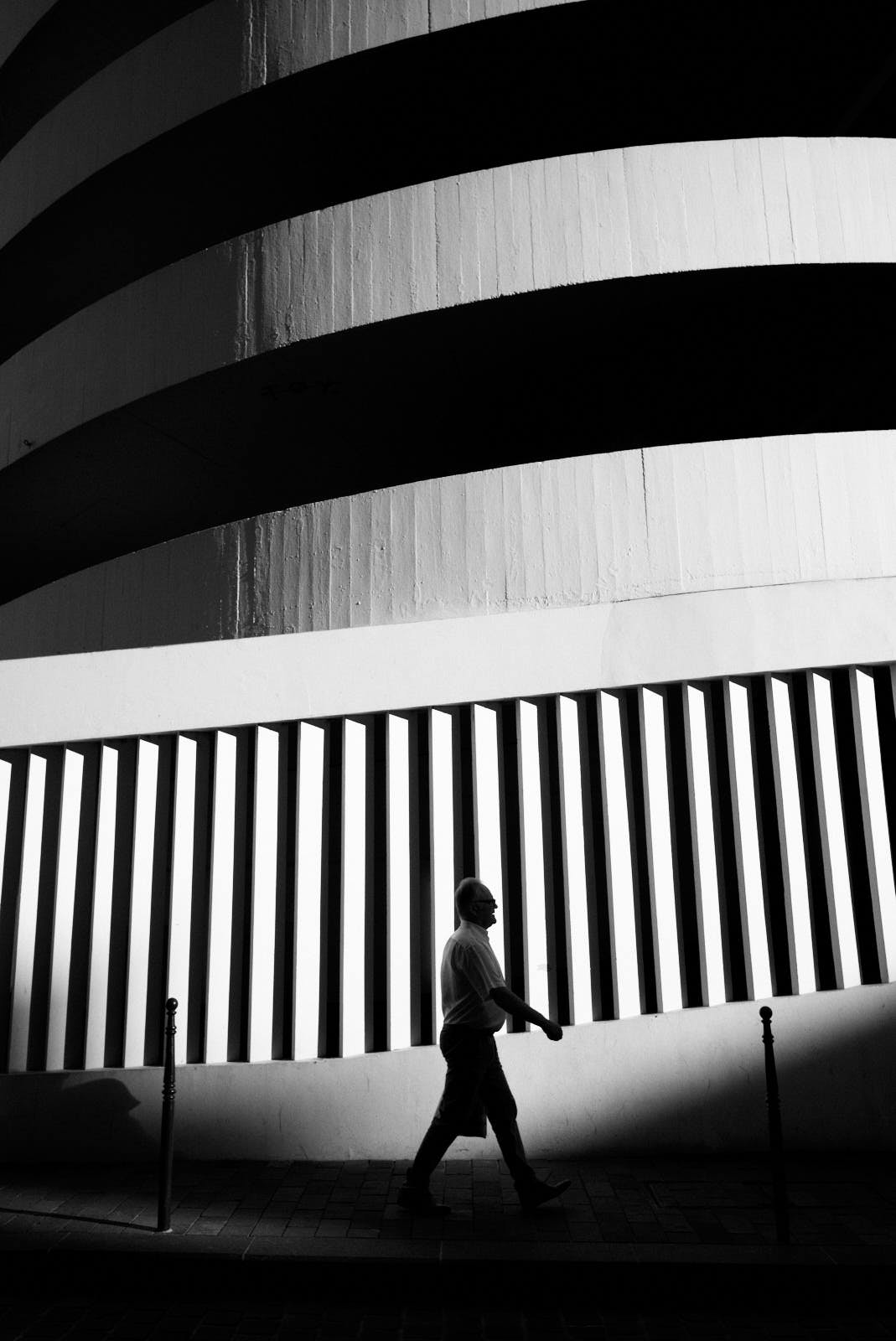 black and white street photography graphic building